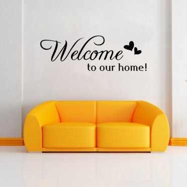 Home Decor Welcome To Our Home Wall Decorative Sticker For Home Decoration H3311