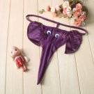 Purple Sexy Men's Intimate Lingerie Underwear G-string of Cute Elephant