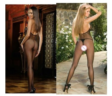 New Sexy Lingerie Woman Open Crotch Mesh Fishnet Body stocking Sexy Lingerie ca-GG2008