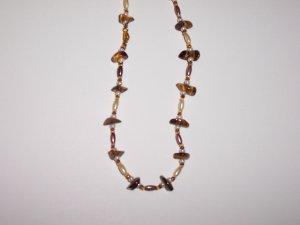 Tigers eye gemstone beaded necklace.