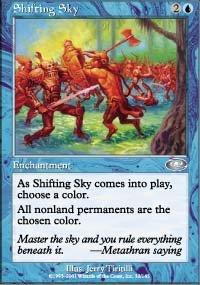 Magic the Gathering Card - Shifting Sky (Planeshift)