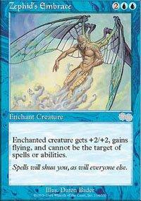 Magic the Gathering Card - Zephid's Embrace (Urza's Saga)