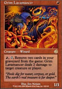 Magic the Gathering Card - Grim Lavamancer (Torment)