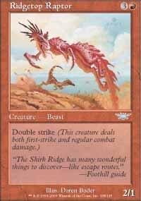 Magic the Gathering Card - Ridgetop Raptor (Legions)