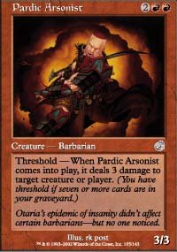 Magic the Gathering Card - Pardic Arsonist (Torment)