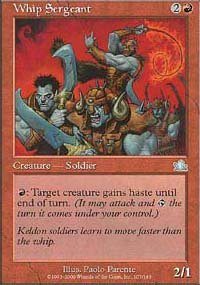 Magic the Gathering Card - Whip Sergeant (Prophecy)