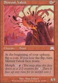 Magic the Gathering Card - Skittish Valesk (Onslaught)