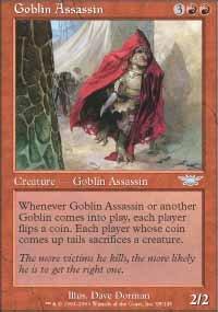 Magic the Gathering Card - Goblin Assassin (Legions)