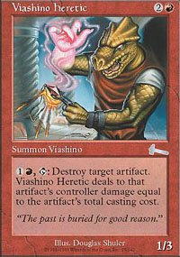 Magic the Gathering Card - Viashino Heretic (Urza's Legacy)