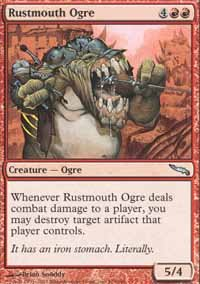 Magic the Gathering Card - Rustmouth Ogre (Mirrodin)