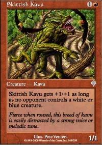 Magic the Gathering Card - Skittish Kavu (Invasion)