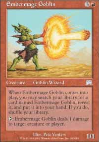 Magic the Gathering Card - Embermage Goblin (Onslaught)