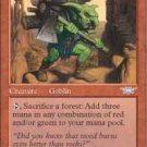 Magic the Gathering Card - Goblin Clearcutter (Legions)