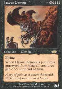 Magic the Gathering Card - Havoc Demon (Legions)