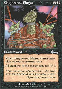 Magic the Gathering Card - Engineered Plague (Urza's Legacy)