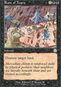 Magic the Gathering Card - Rain of Tears (Mercadian Masuqes)
