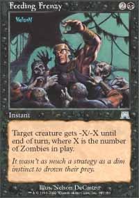Magic the Gathering Card - Feeding Frenzy (Onslaught)