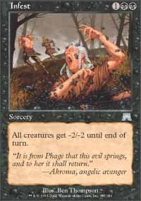 Magic the Gathering Card - Infest (Onslaught)