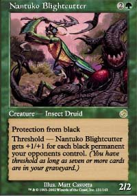 Magic the Gathering Card - Nantuko Blightcutter (Torment)