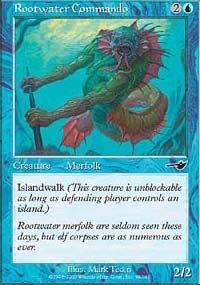 (4) Magic the Gathering Cards - Rootwater Commando