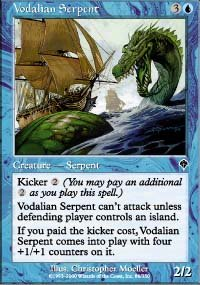(4) Magic the Gathering Cards - Vodalian Serpent