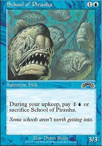(4) Magic the Gathering Cards - School of Piranha