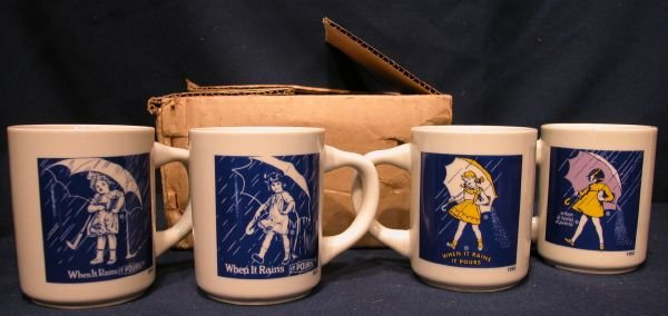 Morton Salt When It Rains It Pours Mug Collector Set Advertising