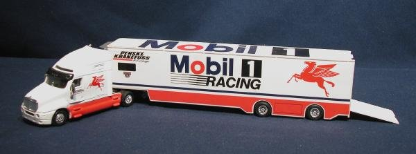 Hot Wheels Mobil One Racing # 12 Toy Tractor Trailer Kenworth
