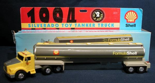 1994 Shell Gasoline Tanker Truck Toy Tractor Trailer