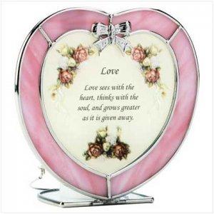 GLASS LOVE HEART TEALIGHT HLDR
