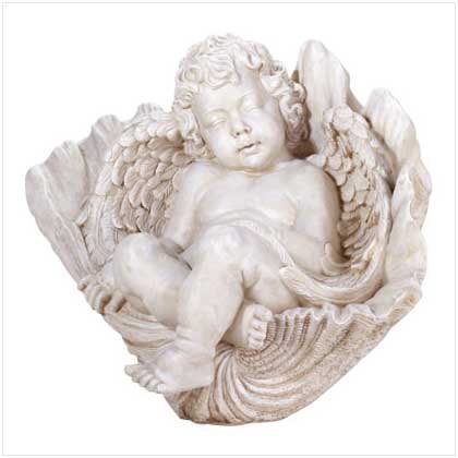 ALAB SLEEPING CHERUB ON SHELL