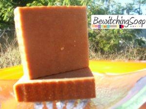 Honey Cinnamon--Cold Process Handmade Soap w/ Shea Butter FREE SHIPPING