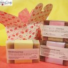 Soap Gift set of cold process soap Olive Rose, Chlorella, Lavender