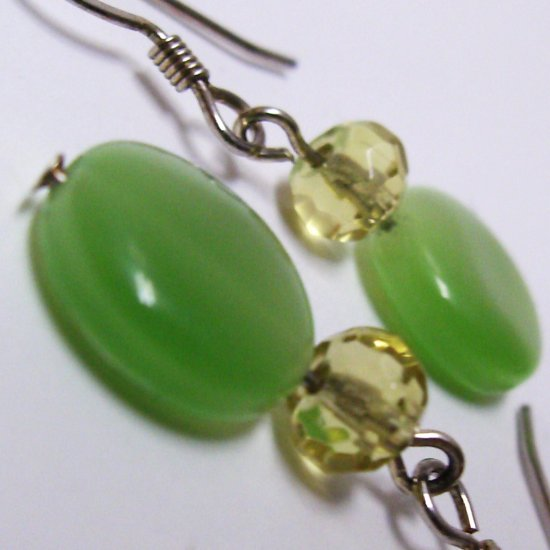 Lemon And Lime Glass Earrings