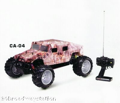 "NEW 1:5 Scale ""CAMO HUMVEE"" RC R/C Gas 23cc Motor"