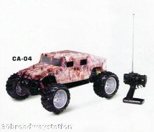 "NEW 1:5 Scale ""CAMO HUMVEE"" RC R/C Gas 23cc Motor"