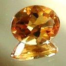 Madeira Citrine gemstone, intense color