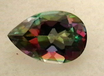 Mystic Topaz gemstone - pear shaped, 3.8 cts.