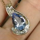 2.3 ct Blue Beryl and Diamond Pendant