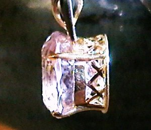 Huge!! 12.33 ct Kunzite and diamond Pendant 14k gold