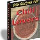 600 Chili Recipes 4 lovers - award winning - FREE SHIP