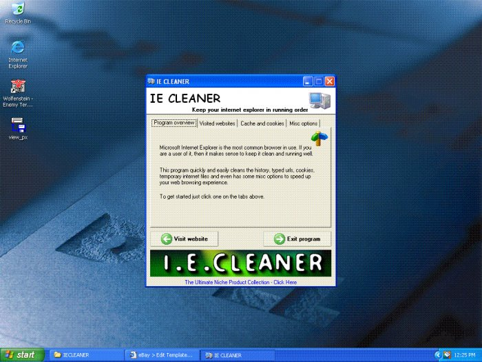 Internet Explorer Cleaner utility MASTER resell rights