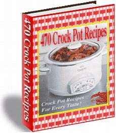 470 Crockpot recipes ebook cookbook digital - FREE SHIP