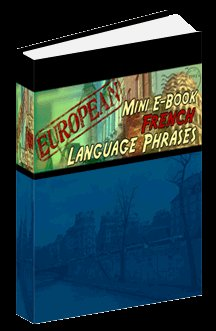 European Mini eBook FRENCH language phrases digital