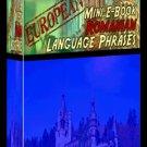 Europian Mini eBook ROMANIAN language phrases digital