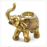 Mosaic Elephant Votive Candleholder