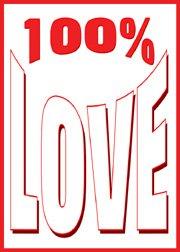 100% Love Fridge Magnet