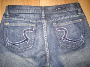 Rock & Republic Roth Pink Crystal Jeans - Size 28 - Retail $230
