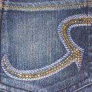 Rock & Republic Roth Gold Crystal Jeans - Size 27 - Retail $230