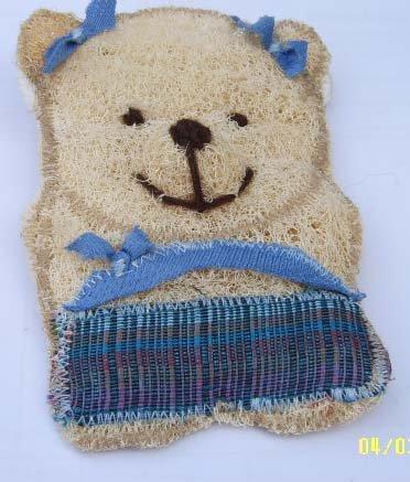Natural Loofah (Teddy bear4)